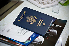 passport on top of documents