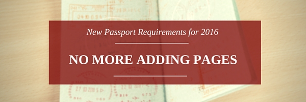 Passport requirements - No more adding pages