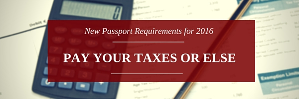 Passport requirements - Better pay your taxes