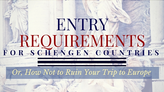 Entry requirements for Schengen countries