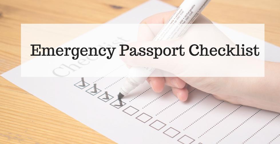 Emergency Passport Checklist