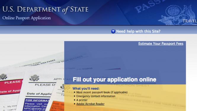 Online Passport Application Form